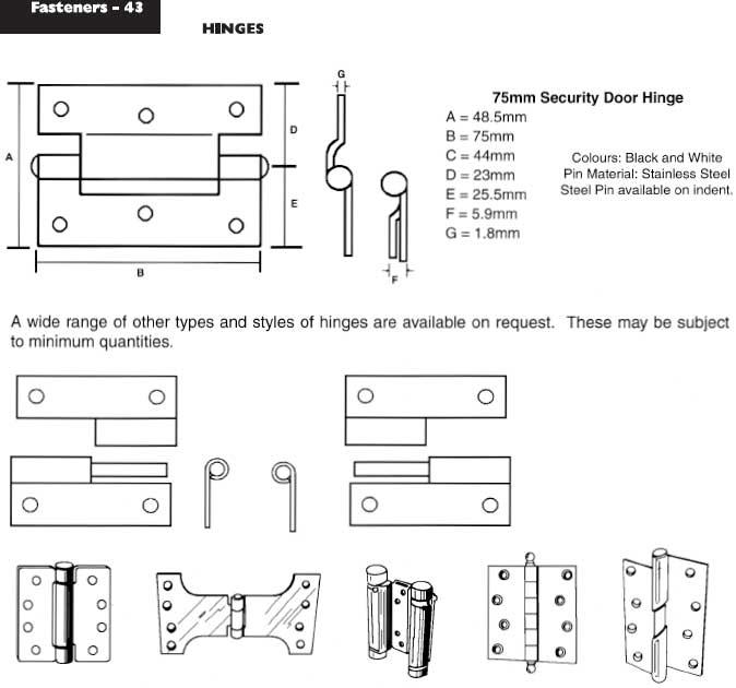 Types of Locking Hinges Security Door Hinges Types
