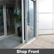 Shop front extrusions from Ullrich Aluminium