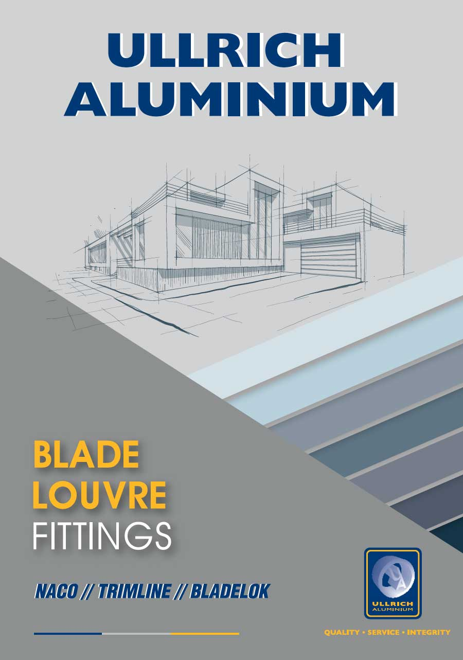 Blade Louvre Fittings from Ullrich Aluminium