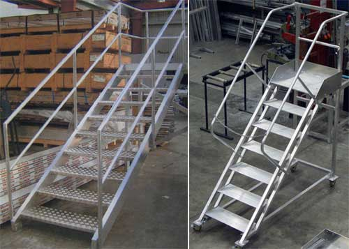 Aluminium Ladders Walkways Access Ways Fabricated By Ullrich