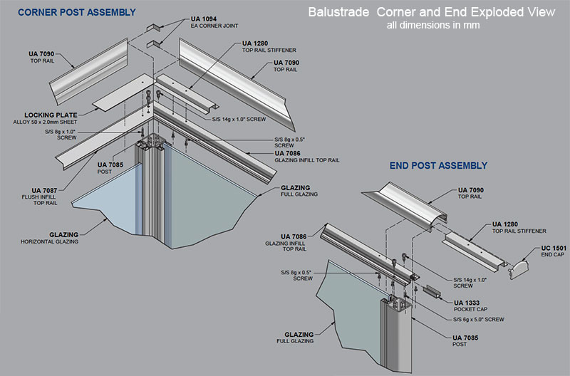 Note  Not all aluminium extrusions are available ex stock - check with    Aluminium Door Frame Sections