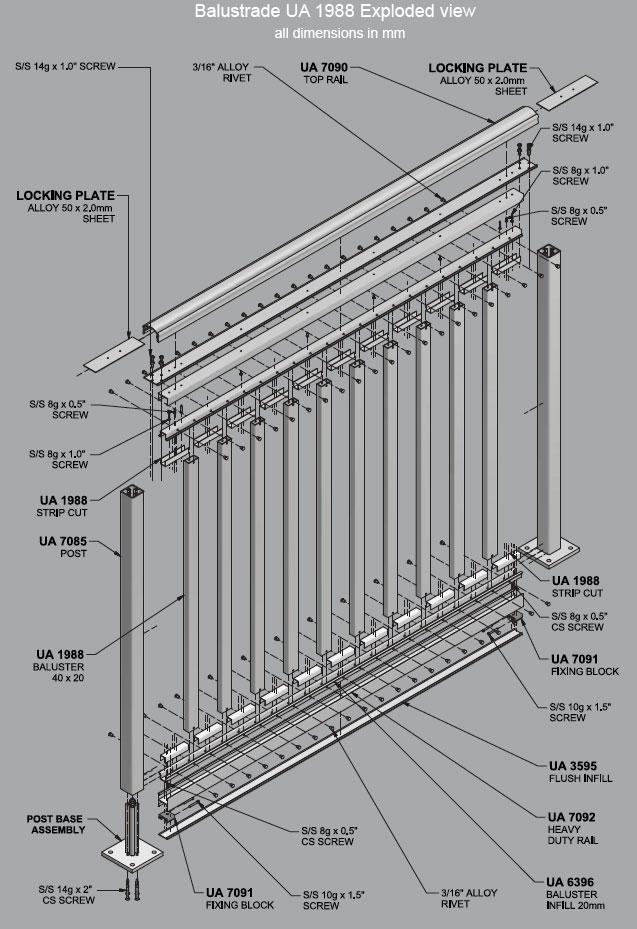 Balustrades Aluminium Extrusions And Balustrade Systems