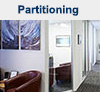 Aluminium partitioning, demountable