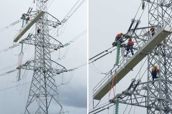 Gantries for working on High tension lines