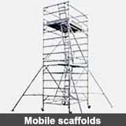 Aluminium fabricated mobile scaffolds from Ullrich Aluminium