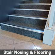Stair Nosing and flooring aluminium extrusions from Ullrich Aluminium