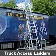 Aluminium fabricated truck access ladders from Ullrich Aluminium