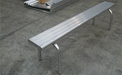 Bench seating and portable stackable aluminium seating