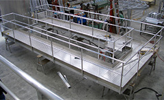 Aluminium bridges, platforms  and walkways