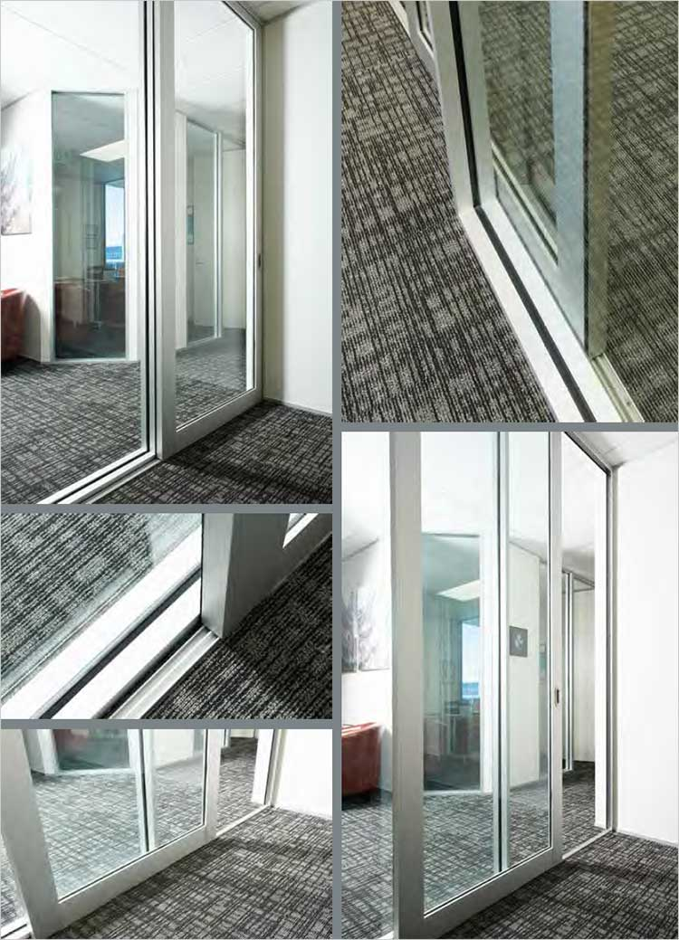 Designer Partitioning System glazing photograhs of installed partitions