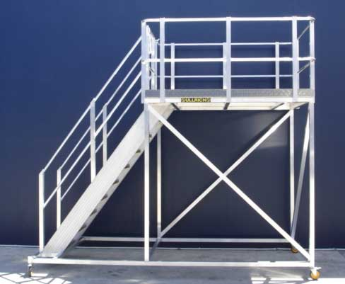 Platform and ladder