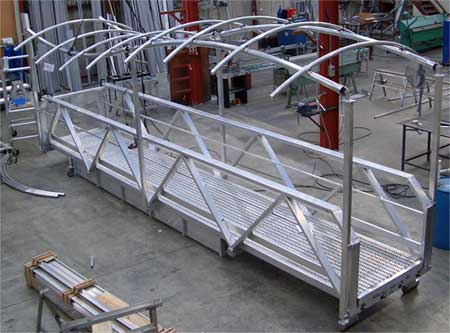 Fabricated aluminium covered walkway