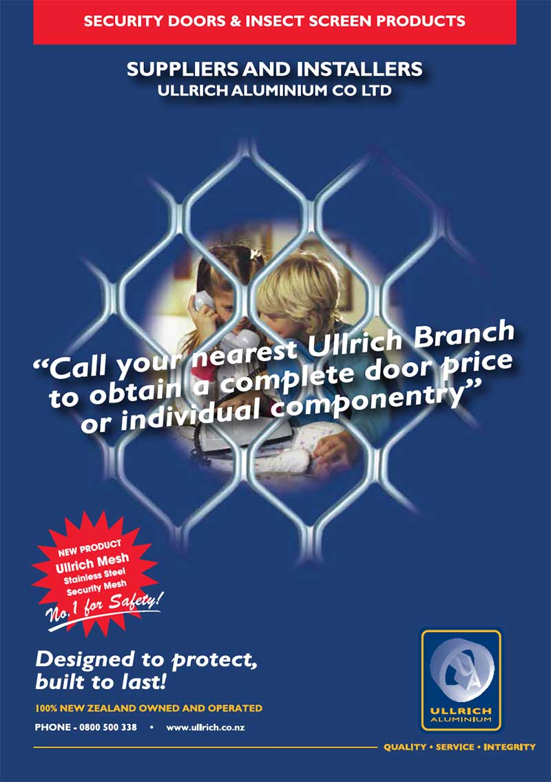 Commercial and domestic Security Doors and Screens from Ullrich