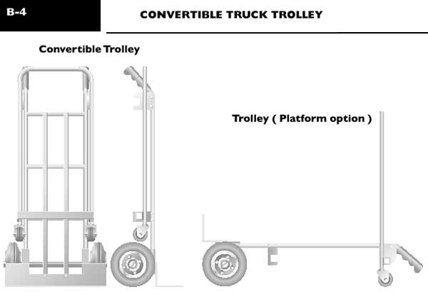 Convertible truck trolleys