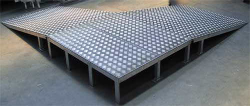 Fabricated aluminium ramps