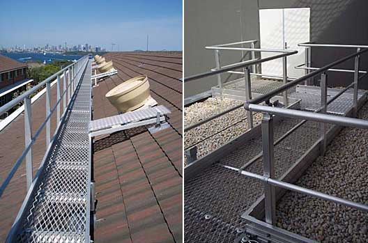 Aluminium Roof Access Ways Roof Walkways And Roof
