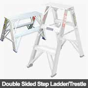 Double sided step ladders from Ullrich Aluminium