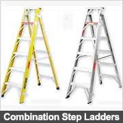 Commercial combination Step Ladders from Ullrich Aluminium
