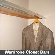 Aluminium closet bars for wardrobes from Ullrich Aluminium