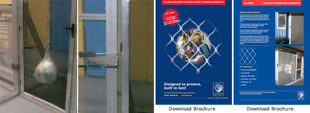 Ullrich stainless steel mesh security doors